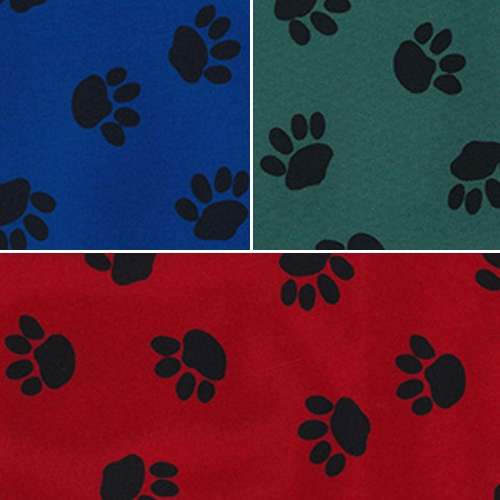 Dog Animal Paw Print PVC Coated 100% Polyester Water Repellent Fabric