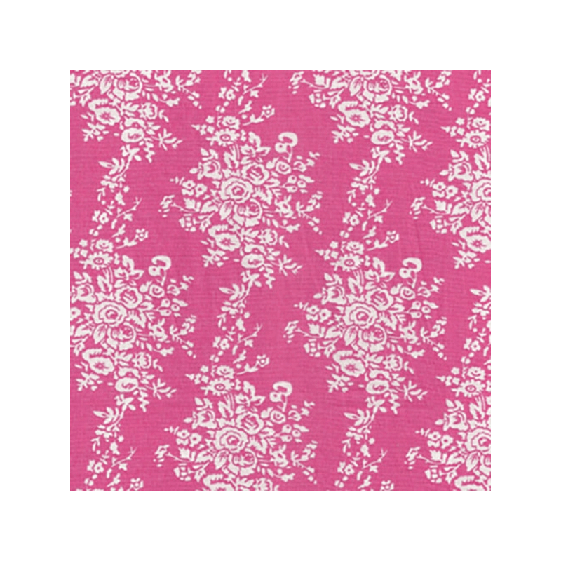 Hanging Bunched Mini Roses Floral Flowers 100% Cotton Fabric
