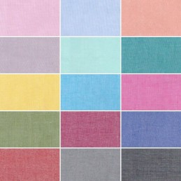 Plain Solid Coloured 100% Yarn Dyed Cotton Fabric (144cm Wide) (JL)