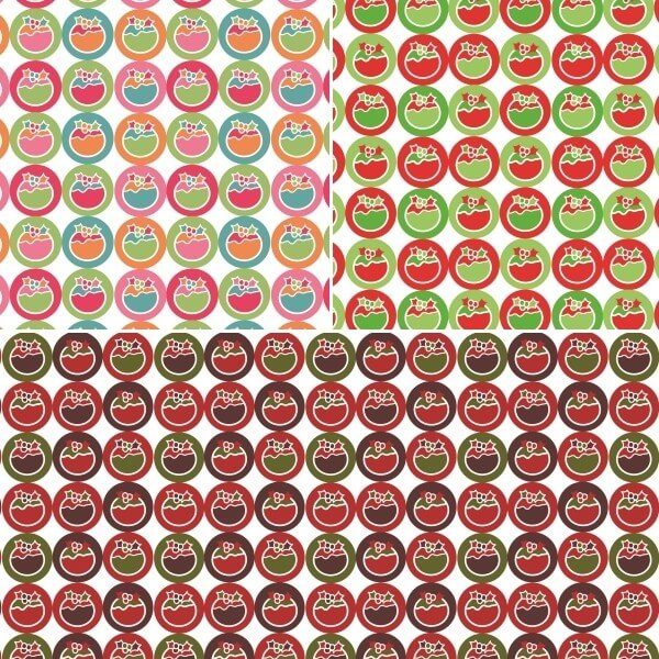 Red Sale Fabric Freedom 100% Cotton Fabric Funky Christmas Pudding Spots Xmas