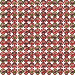 Sale Fabric Freedom 100% Cotton Fabric Funky Christmas Pudding Spots Xmas