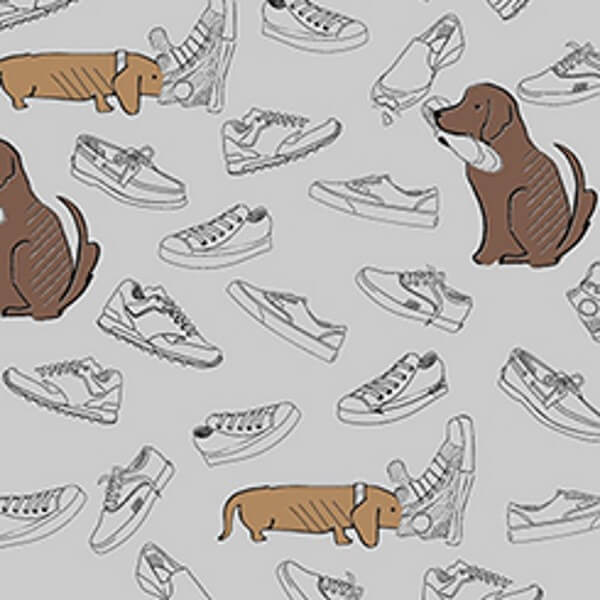Destructive Dogs Puppies with Shoes Pets 100% Cotton Fabric