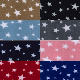 Clear Night Sky Stars Soft Patterned Polar Fleece Anti Pil Fabric