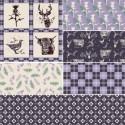Lilac Highland Pride Scottish Tartan Collection 100% Cotton Fabric Patchwork (FF