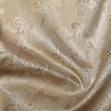 Paisley Jacquard Polyviscose Upholstery Dress Lining Fabric Gold On Silver 03