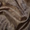 Paisley Jacquard Polyviscose Upholstery Dress Lining Fabric Mocha 08
