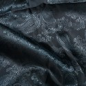 Paisley Jacquard Polyviscose Upholstery Dress Lining Fabric Pale Blue On Grey 22