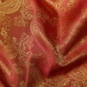 Paisley Jacquard Polyviscose Upholstery Dress Lining Fabric Orange 24