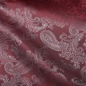 Paisley Jacquard Polyviscose Upholstery Dress Lining Fabric Cherry 26