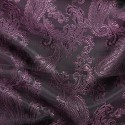 Paisley Jacquard Polyviscose Upholstery Dress Lining Fabric Pink On Purple 28