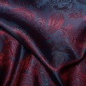Paisley Jacquard Polyviscose Upholstery Dress Lining Fabric Red On Purple 30