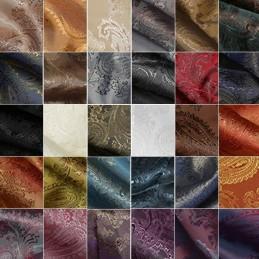 Paisley Jacquard Polyviscose Upholstery Dress Lining Fabric