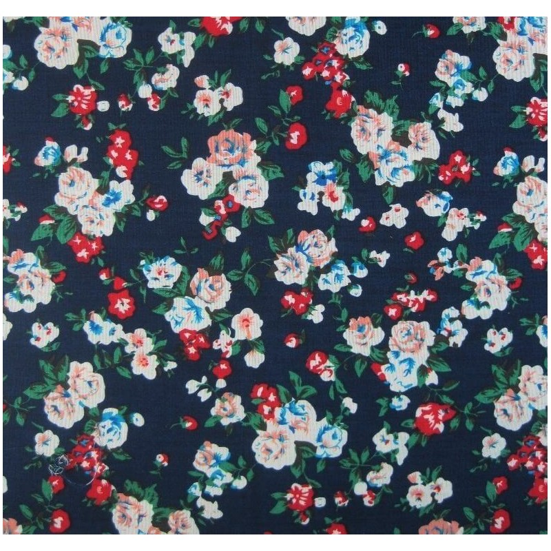 Pride Of Cardiff Green Leaf Roses Floral Flowers 100% Cotton Fabric 145cm Wide