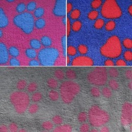 Two Tone Animal Paw Prints 147cm Super Soft Cuddle Fleece Fabric