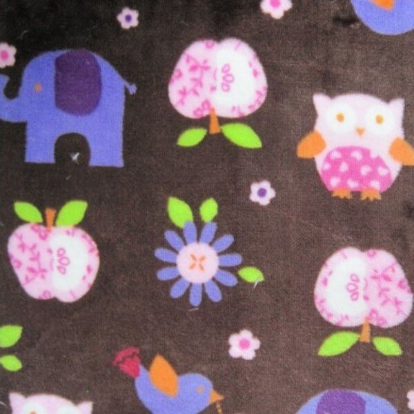 Bugs Ladybirds Catapillars Butterflies 147cm Super Soft Cuddle Fleece Fabric