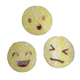 Smiley Emoji Sketch Iron On Craft Motif Stylish Patch