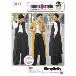 Miss/Plus Size Wide Leg Trousers and Tops Simplicity Sewing Pattern 8177