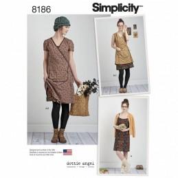 Misses' Dottie Angel Frock: Wrap & Slip Dress Simplicity Sewing Pattern 8186