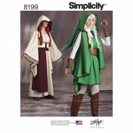 Simplicity Sewing Pattern 8199 Misses' Video Game Gaming Warrior Costumes