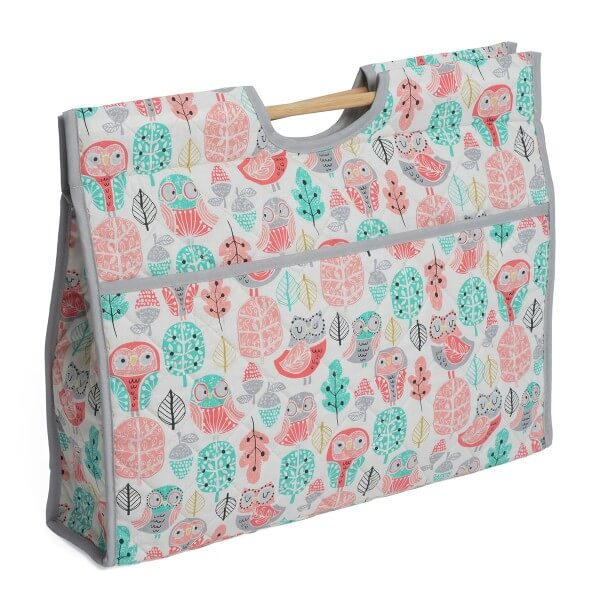 Owls Floral Classic Sewing Knitting Craft Bag