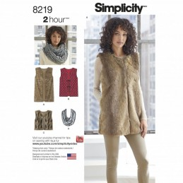 Misses' Two Hour Block Line Vest in Three Lengths Simplicity Sewing Pattern 8219