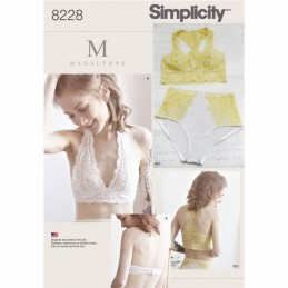 Misses' Soft Cup Bras and Panties Underwear Simplicity Sewing Pattern 8228