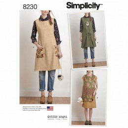 Simplicity Sewing Pattern 8230 Misses Dottie Angel Reversible Apron Dress Tabard