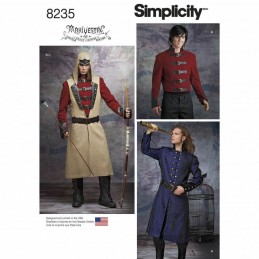 Mens Cosplay Costumes Fantasy Renaissance Simplicity Sewing Pattern 8235