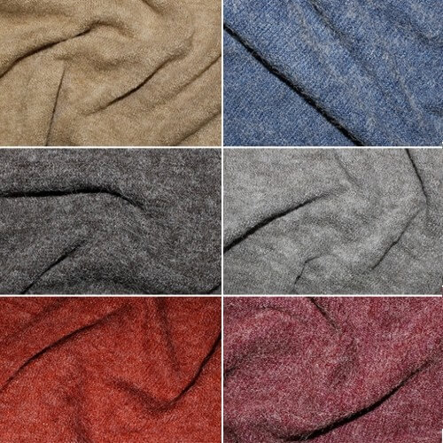 Plain Coloured Angora Acrylic Nylon Polyester Knit Dress Fabric Material