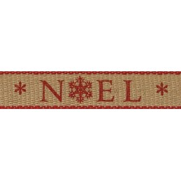 Noel Snowflakes Christmas Berisfords Ribbon 3m x 25mm