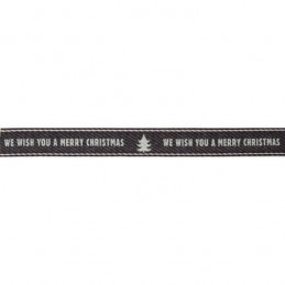 Natural Charms We Wish You A Merry Christmas Berisfords Ribbon 4m x 15mm