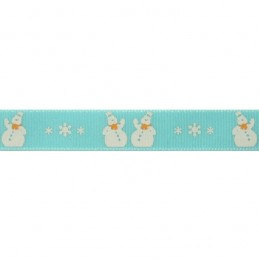 Natural Charms Christmas Snowmen Berisfords Ribbon 4m x 15mm