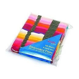 Craft Factory 100 x 8m Embroidery Thread Floss Skeins Cross Stitch