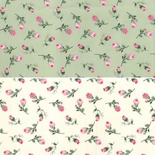 Ivory 100% Cotton Poplin Fabric Rose & Hubble Fallen Pink Roses Floral Flowers Rose