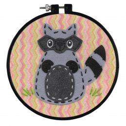 Learn-a-Craft: Counted Cross Stitch Kit: Little Raccoon