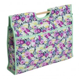 Wild Blossom Floral Haven Classic Sewing Knitting Craft Bag