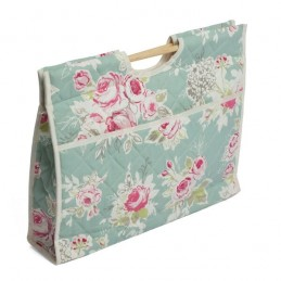 Rose Garden Floral Large Flowers Premium Sewing Knitting Craft Bag
