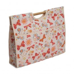 Flutter Butterflies Floral Flowers Premium Sewing Knitting Craft Bag