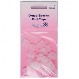 Hemline 25 x 12mm Dress Boning End Caps