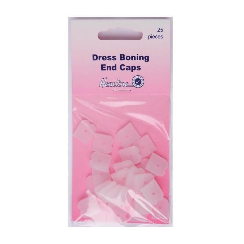 Hemline Dress Boning End Caps 25 Pieces 12mm