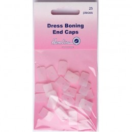 Hemline 25 x 8mm Dress Boning End Caps