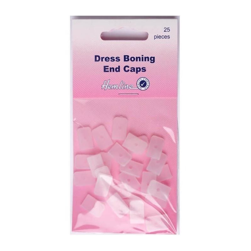 Hemline Dress Boning End Caps 25 Pieces 8mm