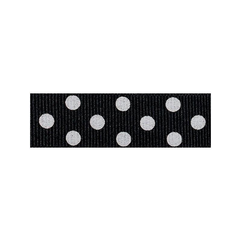25mm Berisfords Black Grosgrain Ribbon 20m Reel