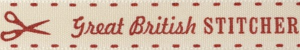 Natural Charms Make Do & Mend Great British Stitcher Berisfords Ribbon 4m x 15mm