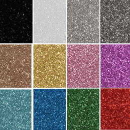 Glitter Felt Fabric X 2 Sheets 30 x 23cm Easy Cut Craft