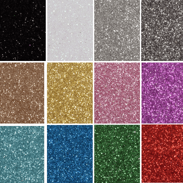 Glitter Felt Fabric Sheets 30 x 23cm Easy Cut Craft