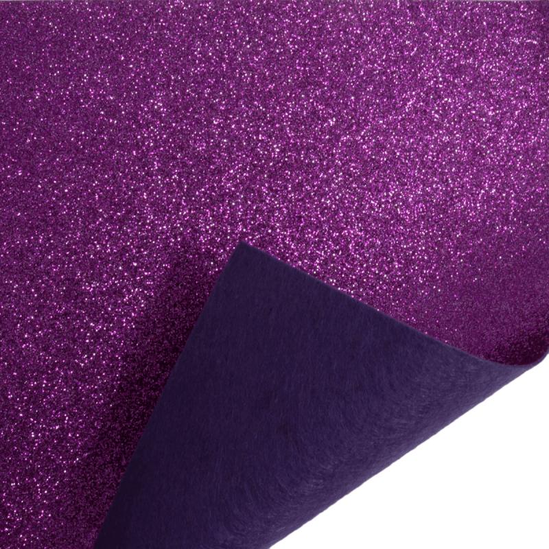 23 x 30cm Lavender Acrylic Glitter Felt Fabric Crafts