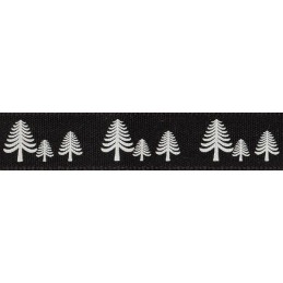 Natural Charms Rustic Christmas Festive Forest Berisfords Ribbon 4m x 15mm