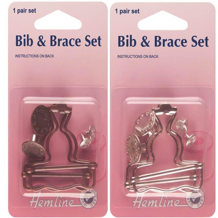 Bronze Hemline Bib and Brace Set 1 Pair In