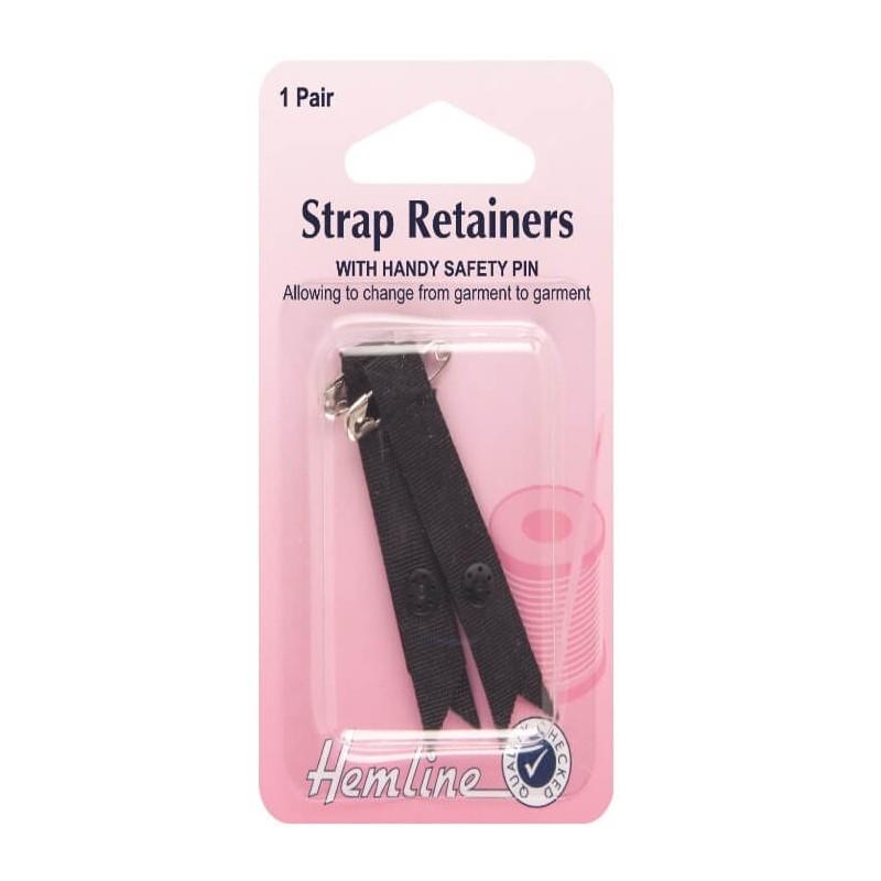 Hemline Shoulder Strap Retainer With Safety Pin